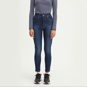 NWT Levi's Mile High Super Skinny Dark Wash Jeans